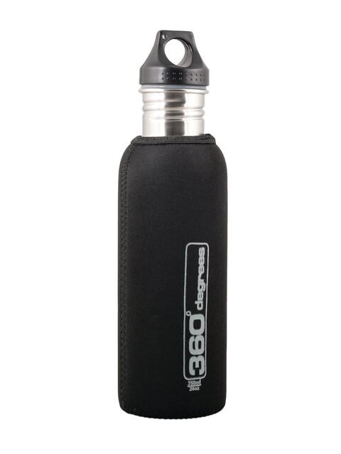 360° degrees Stainless Drink Bottle Neoprene Pouch 750ml black